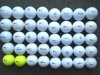 40 NIKE golf balls in very good condition, pd long/soft, distance, mojo,