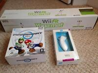 Wii yoga mat/steering wheel and nun chuck