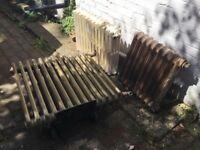 3 vintage, cast iron, column radiators