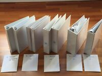 17 Good quality hard white folders / binders