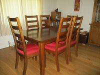 Large extending Oak Dining table and chairs