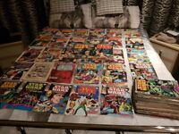 a wide range of comics from spider man star wars batman dc comics etc to many to name