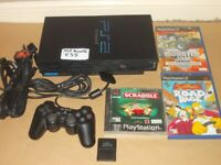 PLAYSTATION 2 CONSOLE & GAMES BUNDLE £35 THE LOT