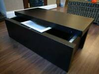 Black Coffee Table with Sliding Top and Storage @ E15 4AL