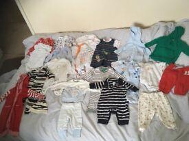 36 items Baby boy clothes bundle 0 - 3 months