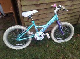 """Girls bike, 18"""" wheel"""
