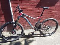 Giant back gas mountain bike (specialized and trek downhill)