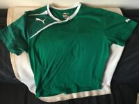 Puma T-shirt, retro green, size M