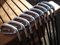 Full Set Hippo Plus Regular Graphite Shaft Irons, 3 - s/w. Starter Set.
