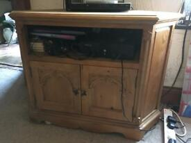 Pine corner TV unit living room furniture