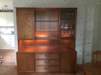 G Plan Dining table 6 chairs display cabinet and sideboard