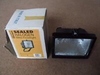 Two 500W Sealed Halogen Security Floodlights. Both new and unused