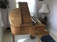 Baby Grand ( Boudoir) Piano in a rare Walnut case. Squire Longson 1920's.