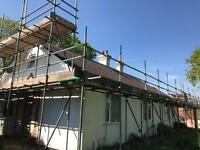 Easy access scaffolding
