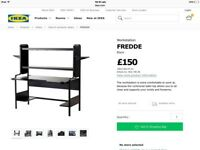 Ikea desk black