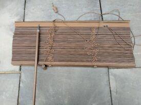 Brown wood Venetian blind - used, 60cm x 140cm