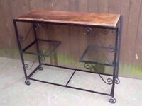Black Metal Frame Plant Holder With Removable shelf Delivery Available