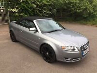 2007 Audi A4 2.0 Tdi Sport Manual Cabriolet Convertible Full Leather 84k Miles