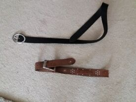 2 LADIES LEATHER BELTS FROM NEXT
