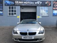 BMW 645 V8 ENGINE 333 BHP, LPG FITTED, FULL YEAR MOT, RECENTLY FULLY SERVICED, FULL SERVICE HISTORY