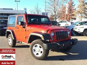 2017 Jeep Wrangler SPORT**LOW KM'S!!**1 OWNER**A/C**HARD TOP**