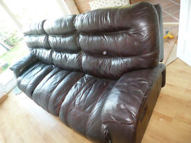 Reclining Leather settee