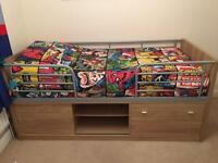 Dismantled Wood effect mid height Cabin bed
