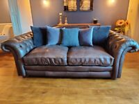 Loch Leven Leather: 3 Seater Sofa 6 months old, like new!