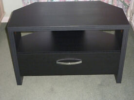 Corner TV unit - black wood