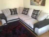 Corner Sofa with turning armchair and footrest