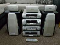 Technics 4 stack hifi stereo with 5 dvd changer Video/audio