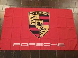 Porsche workshop flag banner 911 944 carrera cayenne caymen