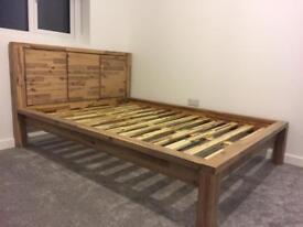 Oak Futniture Land Double-Bed Frame