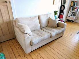 John Lewis 2 Person Sofa - Cleaned