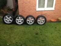 Mini R56 16 inch alloy wheels with as new winter tyres