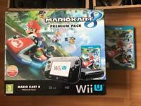 Nintendo Wii u 32gb premium black boxed console & Mariokart 8 game