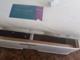 Electric Double Bed with latex mattress