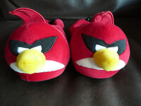 Boys Red M&S Angry Bird Slippers Size 3