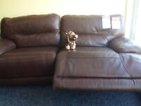 Exdisplay lazy boy leather electric recliner sofa