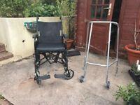 Wheelchair & Wheeled Zimmer frame