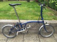 Brompton S3L Fold-up Bike Blue