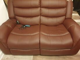 Heat & Massage leather 3+2 seater sofas. Open to offers.