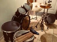 Vintage 6 Piece Premier Drum Kit (with 5 free pairs of sticks!)
