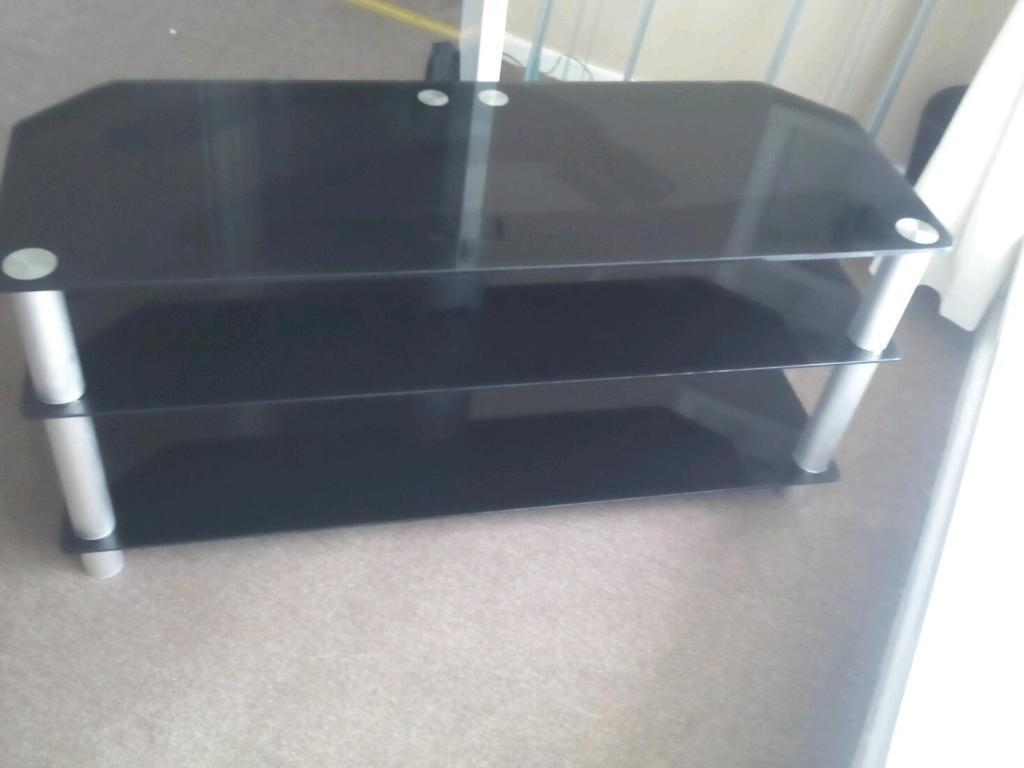 Black Temped Glass Tv Stand In Wirral Merseyside Gumtree