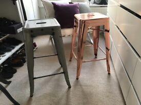 2 Tolix stools (Replica) 65cm