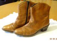 Rieker brand, ladies cowboy style boots. Size 5.