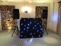 Equinox DJ Booth LED Starcloth