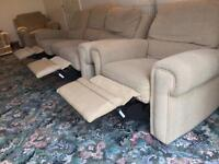 QUICK SALE OFFERS! 3 X BEIGE RECLINABLE SOFAS!