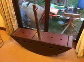 CHILDREN' S Handmade Wooden Seesaw Boat With Storage- REDUCED PRICE.