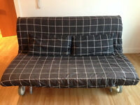 Two-seat sofa-bed IKEA PS MURBO (rute black)